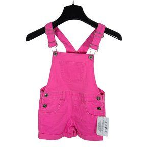 NWT Neon Pink Overall Shorts 4